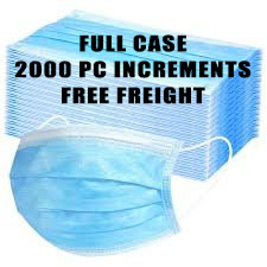 Picture of 3 Ply Disposable Masks – CASE of 2000 Pcs